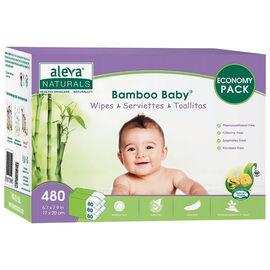 Aleva Bamboo Baby Wipes - 480s