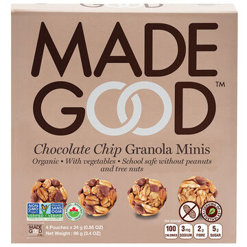 Made Good Granola Mini's - Chocolate Chip - 4 Pack