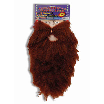 Halloween Beard and Moustache - Brown