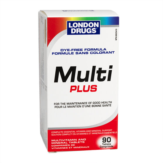 London Drugs Multi Plus Dye Free Formula - 90's