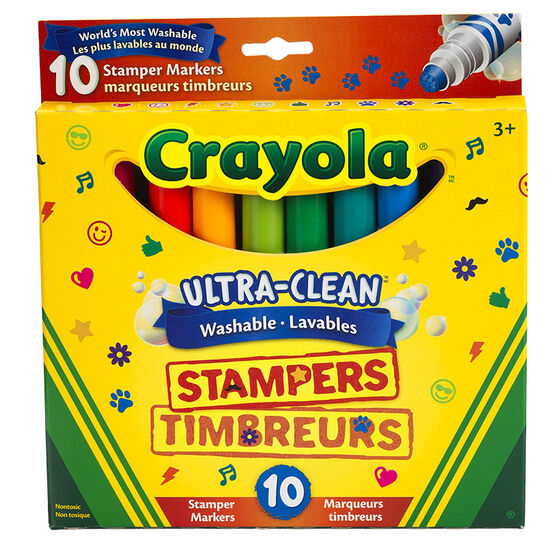 Crayola Ultra-Clean Washable Stampers Markers - 10 pack