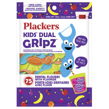 Plackers Flossers for Kids - Fruit Smoothie Swirl - 75's