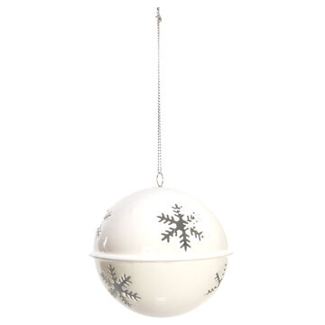 Winter Wishes Candy Cane Lane Bell Ornament - White