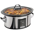 Crock-Pot Digital Slow Cooker - 6.5 Quart - Stainless Steel - SCVT650PS-CN