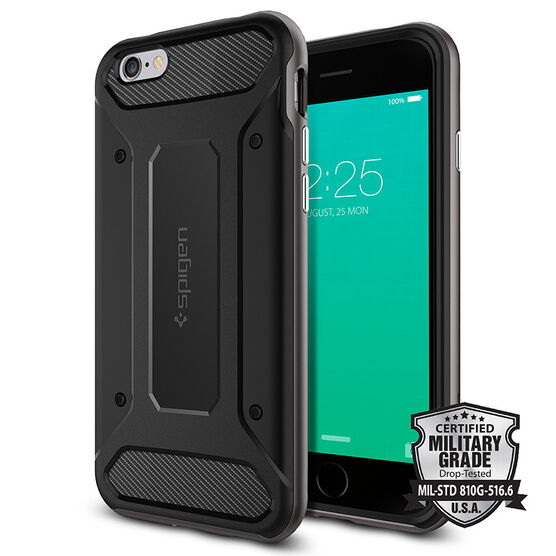 Spigen Neo Hybrid Carbon Case for iPhone 6/6s - Gunmetal - SGP11621