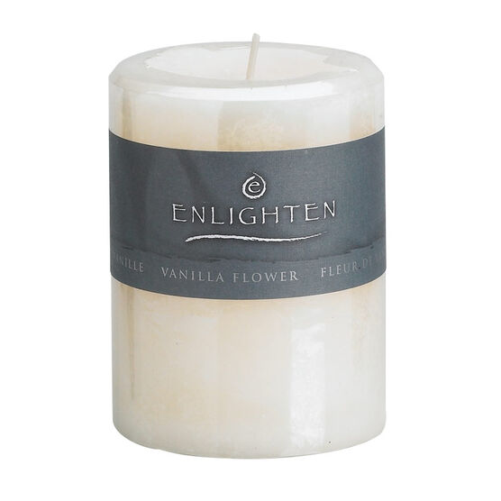 Enlighten Pillar Candle - Vanilla - 3x4 inch