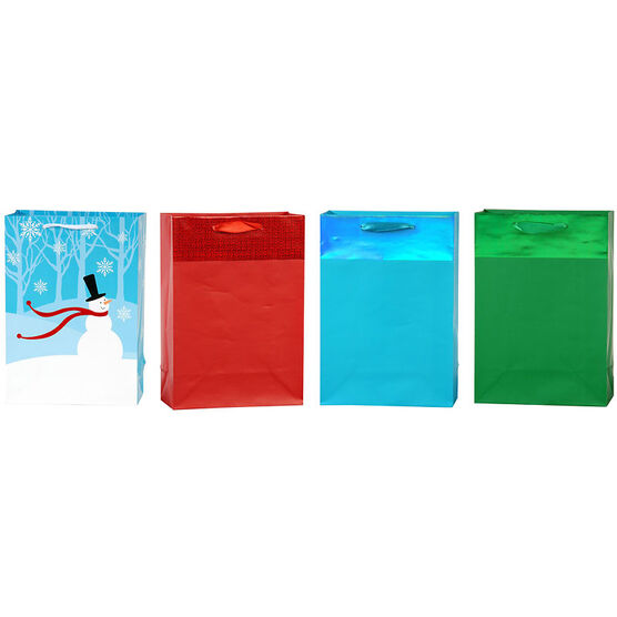 Plus Mark Frosty Gift Bags - Medium - Assorted