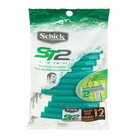 Schick Slim Twin Razors - Sensitive Skin - 12's