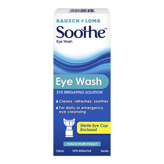 Bausch & Lomb Soothe Eye Wash - 120ml