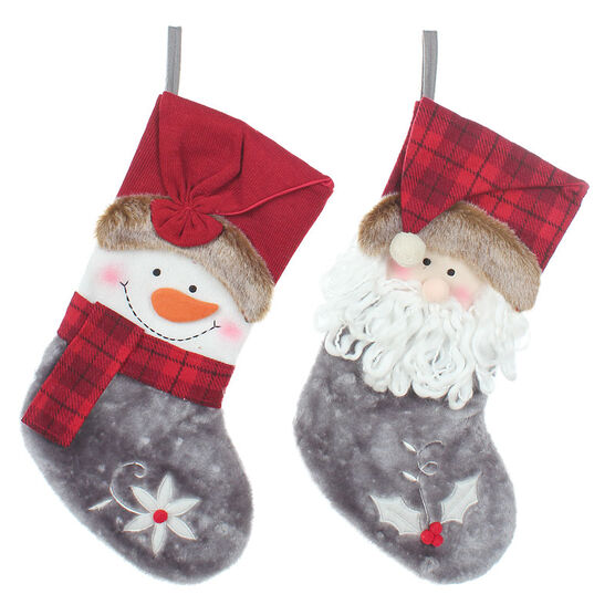 Danson Stocking with Figure - 20in - X96595 - Assorted