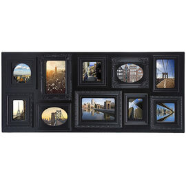 KG Sophia 10 Opening Collage Frame - Black - 13x31""
