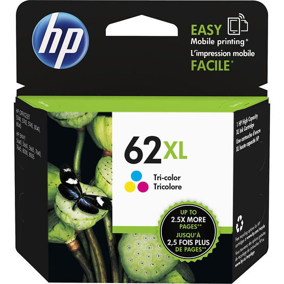 HP 62XL High Yield Original Ink Cartridge - Tri-Colour - C2P07AN#140