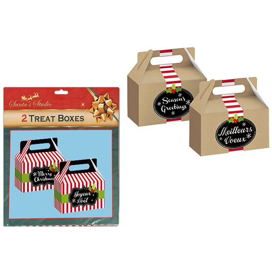 Christmas Chalkboard Cookie Box - 2 pack