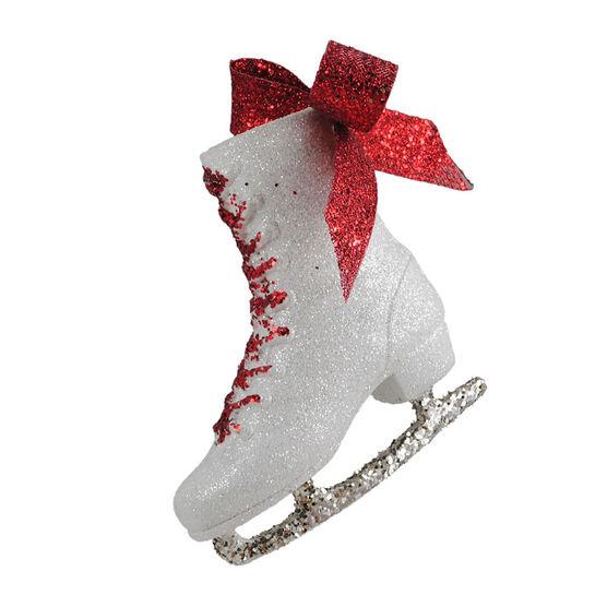 Christmas Forever Ice Skate Ornament - White - XM-MW1270