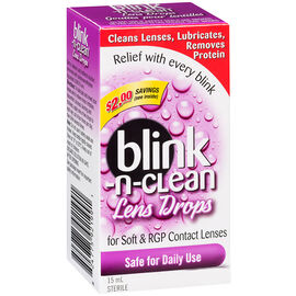 Abbott Blink-N-Clean Lens Drops - 15ml