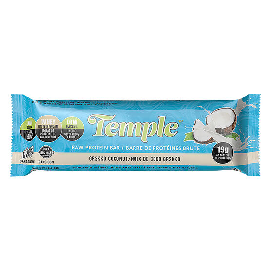 Temple Raw Protein Bar - Grekke Coconut - 70g