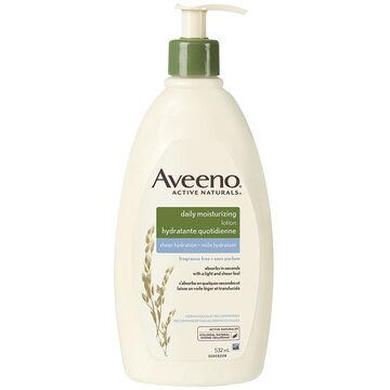 Aveeno Active Naturals Daily Moisturizing Sheer Hydration - Fragrance Free - 532ml