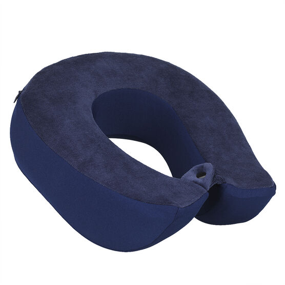 London Drugs Memory Foam Travel Pillow - Dark Blue