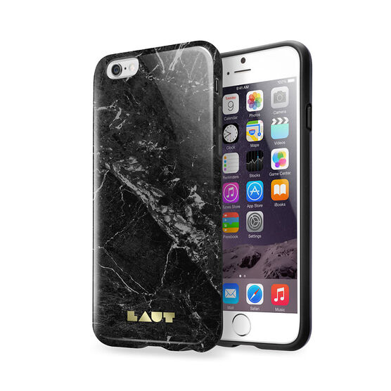 LAUT HUEX Elements for iPhone 6/6S - Marble Black - LAUTIP6HXEMB