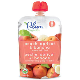Plum Organics - Peach, Apricot and Banana - 128ml