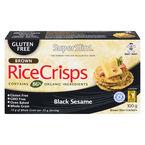 SuperSlim Brown Rice Crisps - Black Sesame - 100g