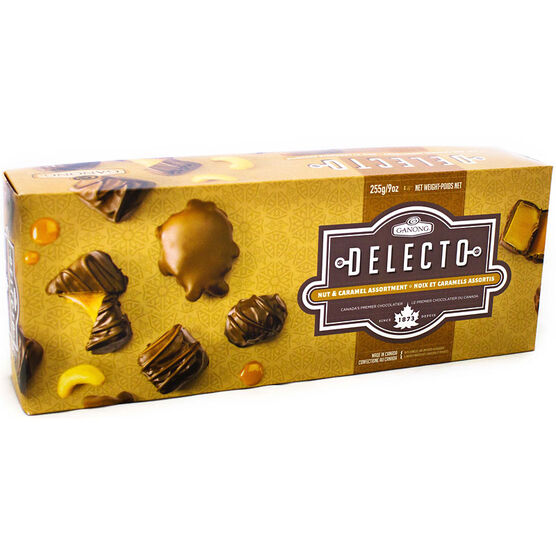 Ganong Delecto Nut and Caramel Assortment - 255g