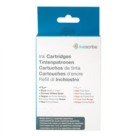 Livescribe Refill Ink Cartridges - Black/Red - ARA-00007