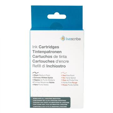 Livescribe Refill Ink Cartridges - Black/Red - ARA-00007