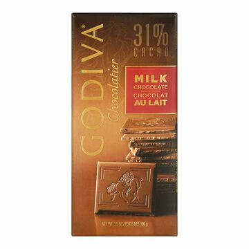 Godiva 31% Milk Chocolate Bar - 100g