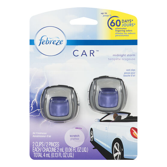 Febreze Auto Air Freshener - Midnight Storm - 2 pack/4ml