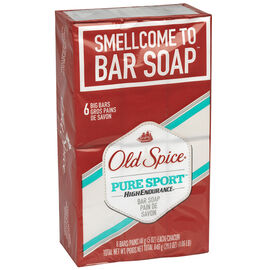Old Spice High Endurance Bar Soap - Pure Sport - 6x113g