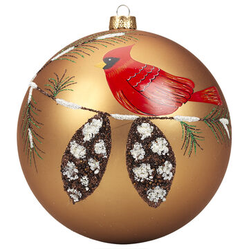 Winter Wishes Cardinal Ball Ornament - 150 mm