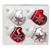 Winter Wishes Candy Cane Lane Mitten Ornaments - 4 pack