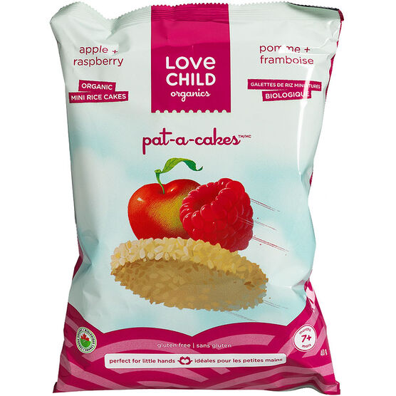 Love Child Pat-A-Cakes Mini Rice Cakes - Raspberry Apple