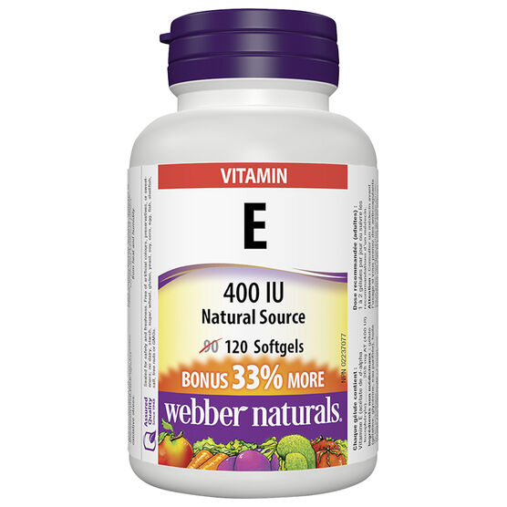 Webber Natural's Vitamin E 400IU - 90's