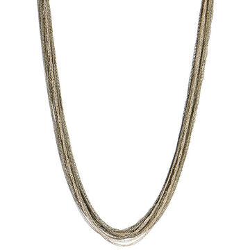 Kenneth Cole Multi Chain Necklace - Silver & Hematite Tone