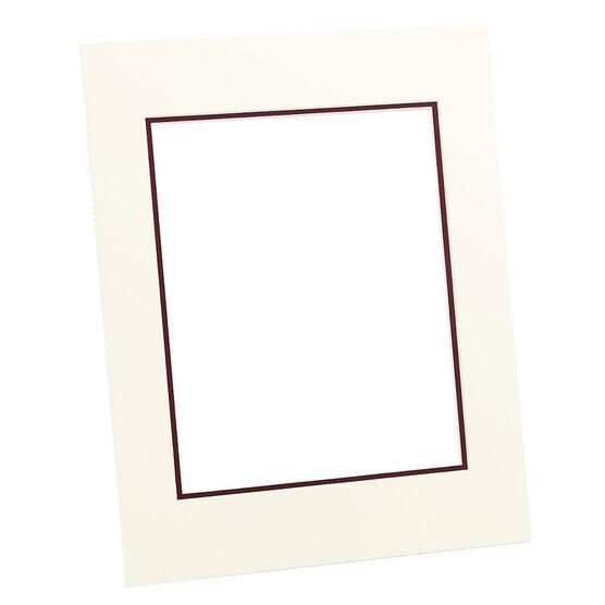 Tempo 11x14 Mat Frame - Ivory/Maroon