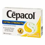 Cepacol Extra Strength Oral Lozenges - Sucrose Free - Honey Lemon - 16's