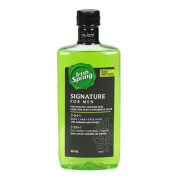 Irish Spring Signature for Men Bodywash - 3 in 1 - 443ml