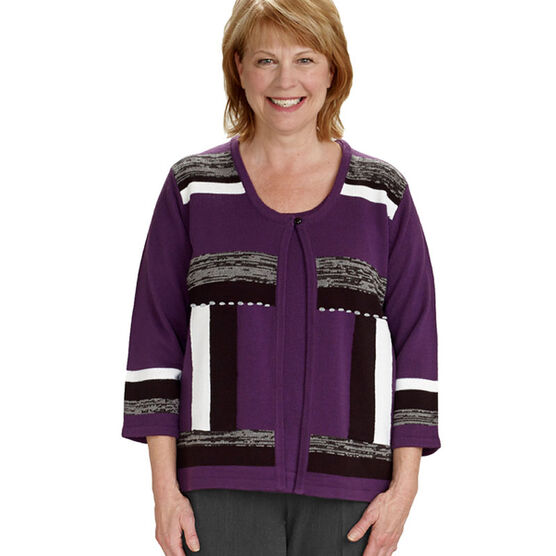 Silvert's Adaptive Top - Purple - Womens