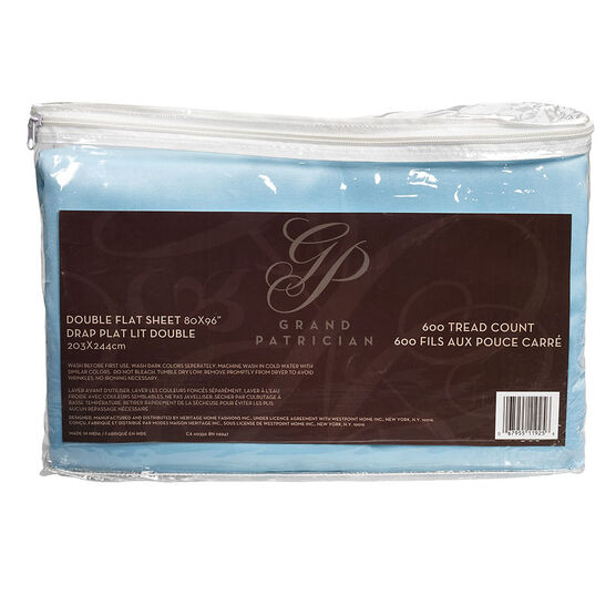 Grand Patrician Flat Sheet - Double Size - Assorted