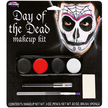 Halloween Day of the Dead Makeup Kit - Assorted
