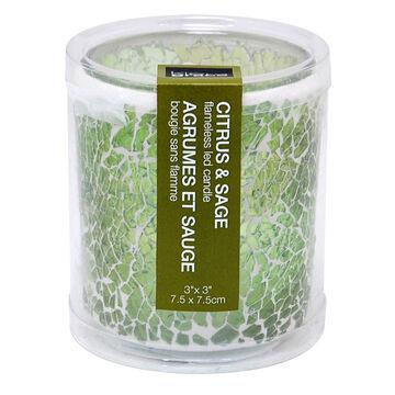 Kiera Grace Mosaic Candle - Citrus Sage - 2x3 inch