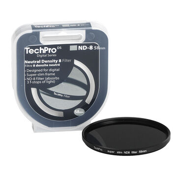 TechPro DS 58mm Neutral Density 8 Filter - FIMSND8B58-CB
