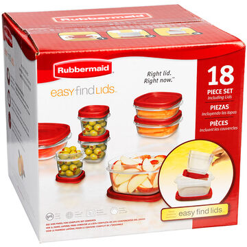 Rubbermaid Easy Find Lid Set - 18piece