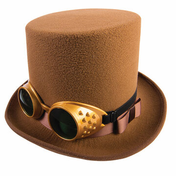 Halloween Steampunk Hat with Goggles