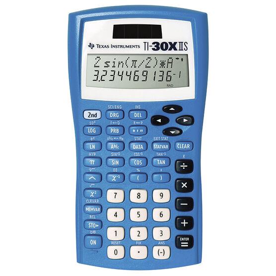 TI-30XIIS Scientific Calculator - Blue - 30XIISBLUECA