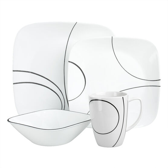 Corelle Simple Lines Dinnerware - 16 Pieces
