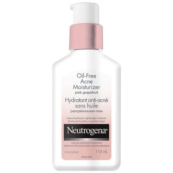 Neutrogena Oil Free Acne Moisturizer Pink Grapefruit - 118ml