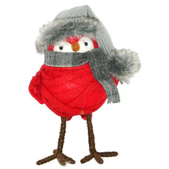 Christmas Forever Plush Bird - 8in - Red - XM-KH1075